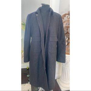 J.Crew Long Coat Wool Gray Thinsulate Zip